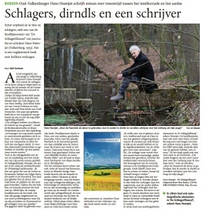 Hans Hoenjet in de De Limburger 03-04-2016